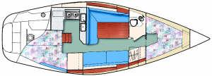 Catalina 30 Floor plan